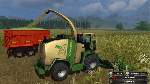 Krone BigX 650 + Krone Easycollect 7500